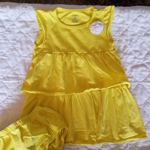 24mo Yellow Dress & Matching Bloomers